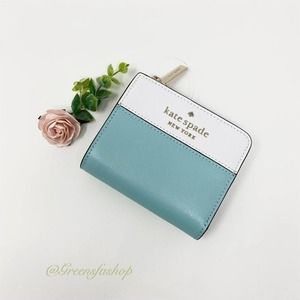 New Kate Spade Staci Small L-zip  wallet
